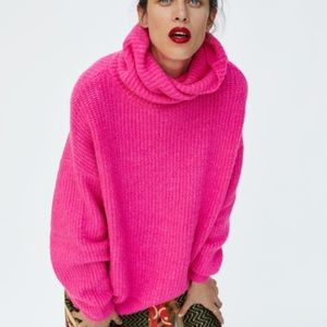 Neon pink Zara sweater